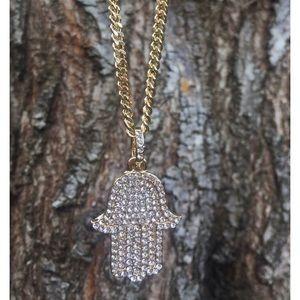 Jewelry - 18k GP Buddha Hand Chain